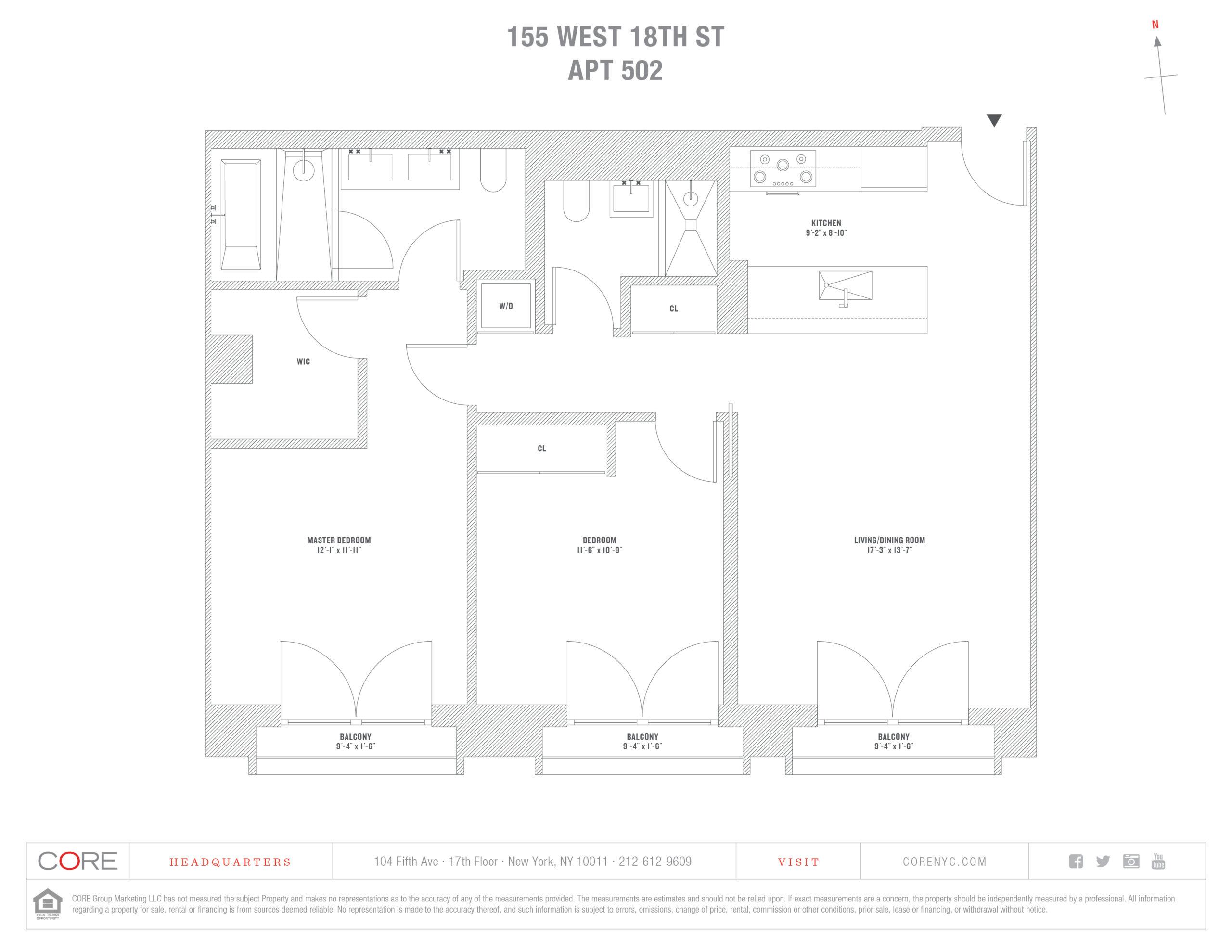 155 West 18th St. 502, New York, NY 10011