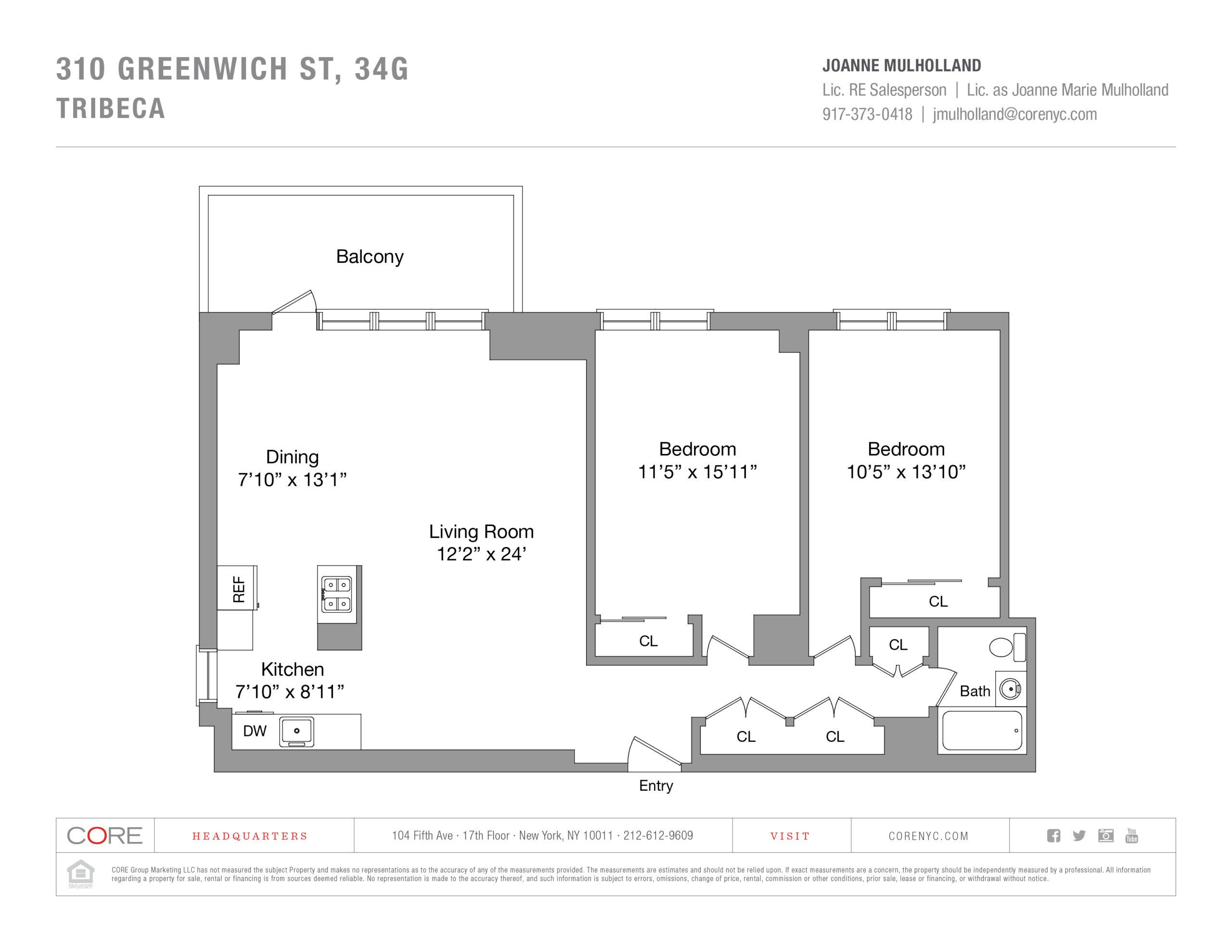 310 Greenwich St. 34G, New York, NY 10013