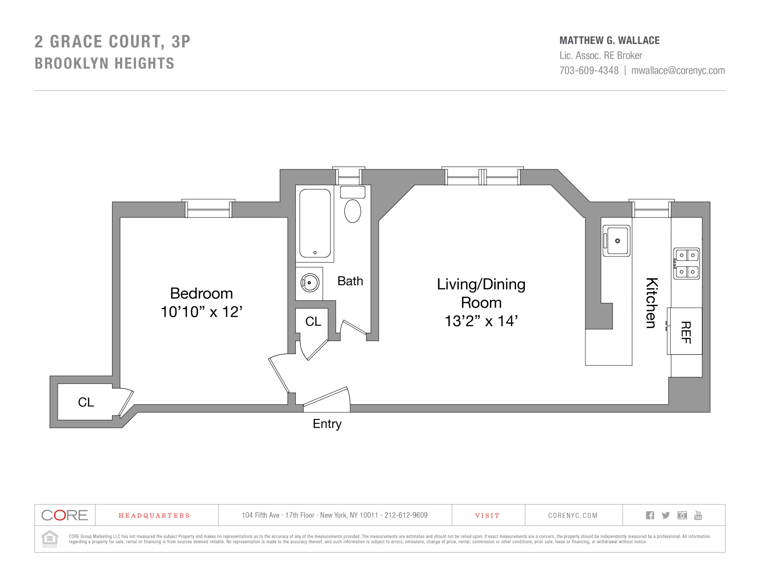 2 Grace Court 3P, Brooklyn, NY 11201