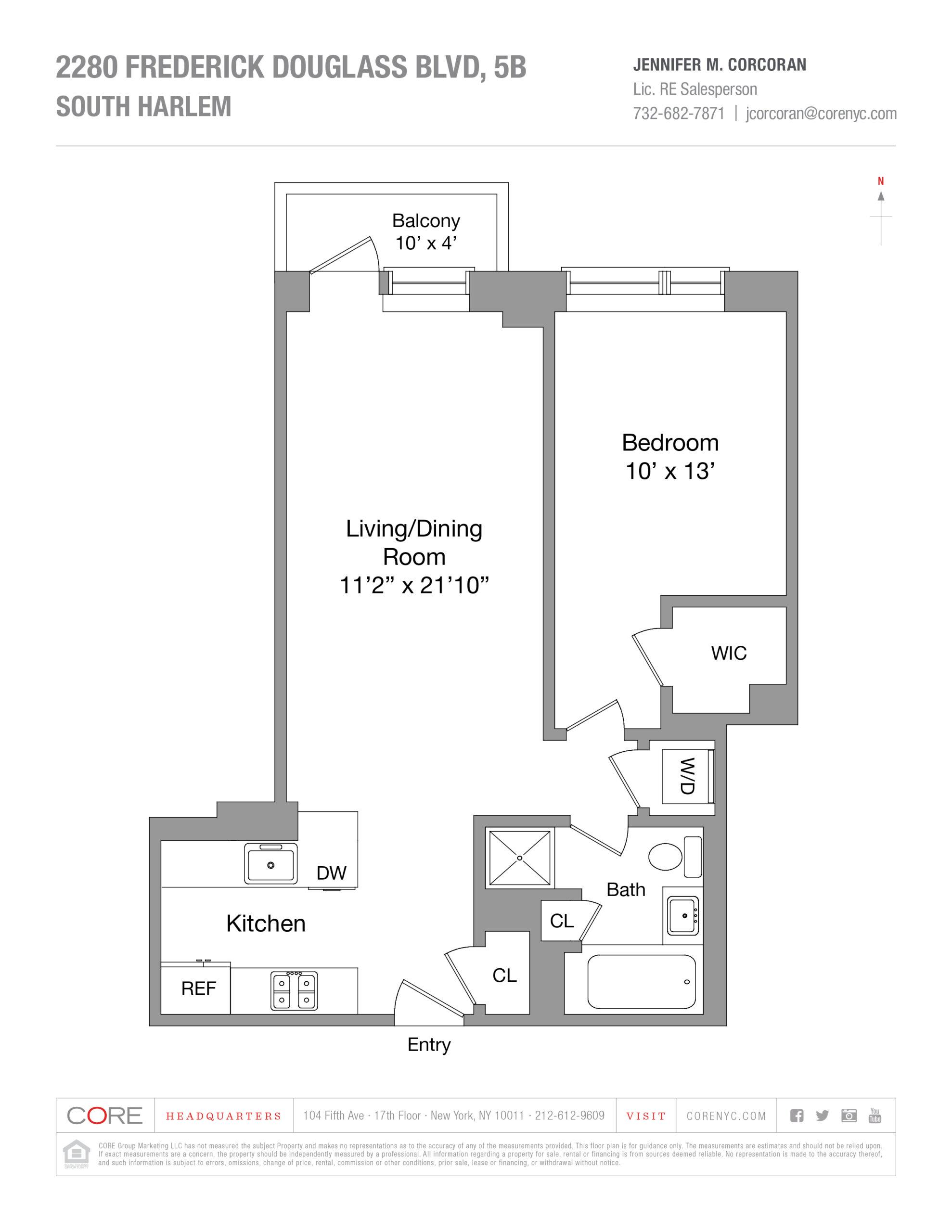 2280 Frederick Douglass Blvd. 5B, New York, NY 10027