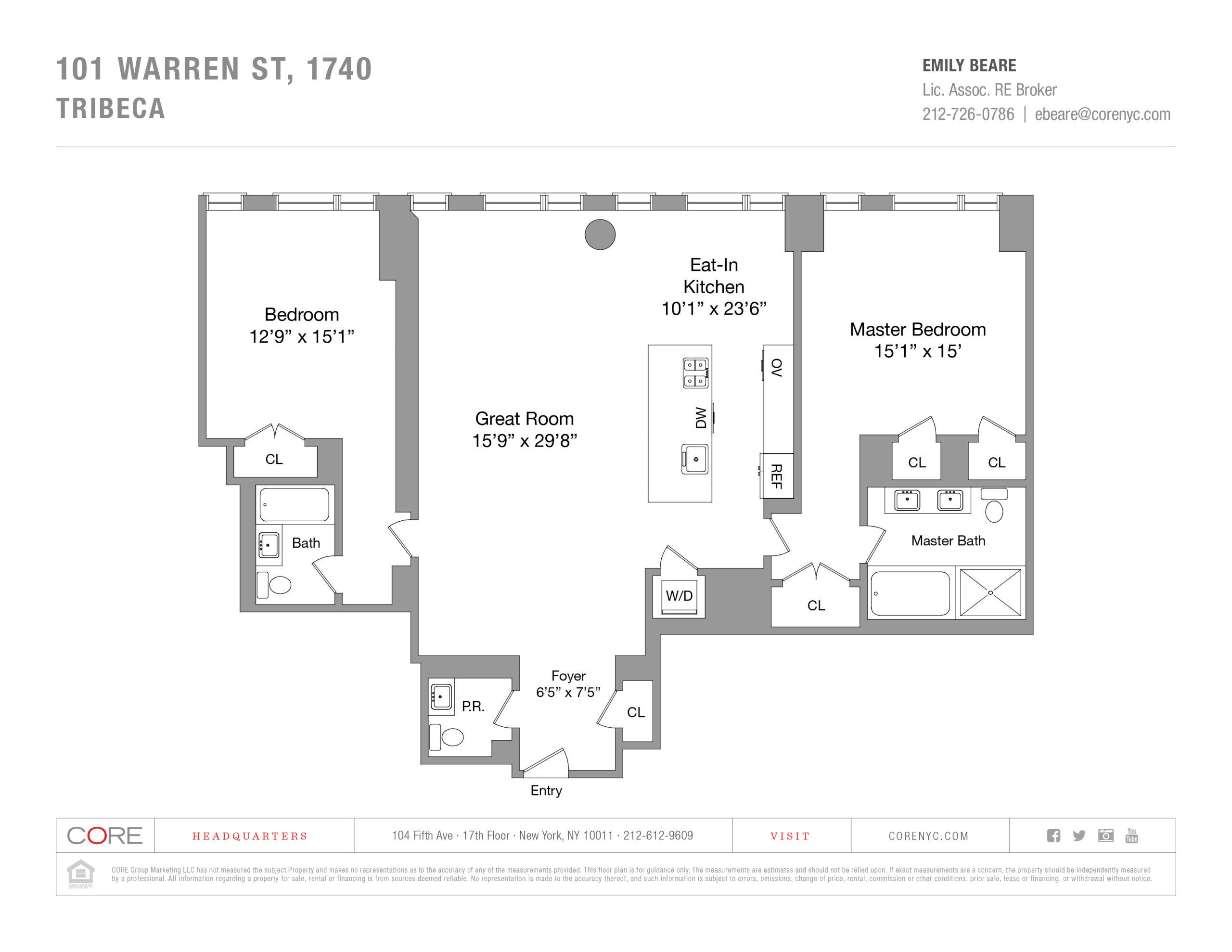 101 Warren St. 1740, New York, NY 10007