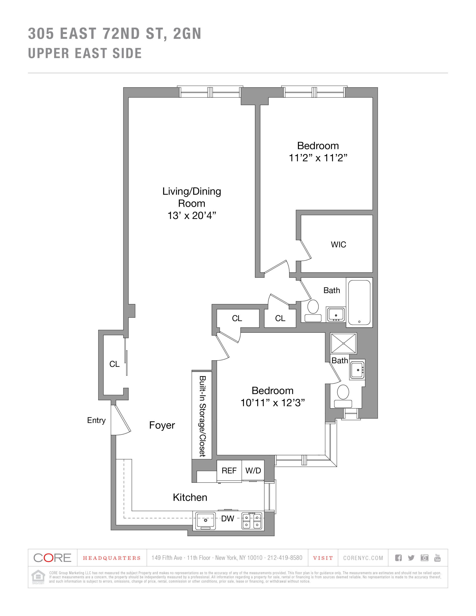 305 East 72nd St. 2GN, New York, NY 10021