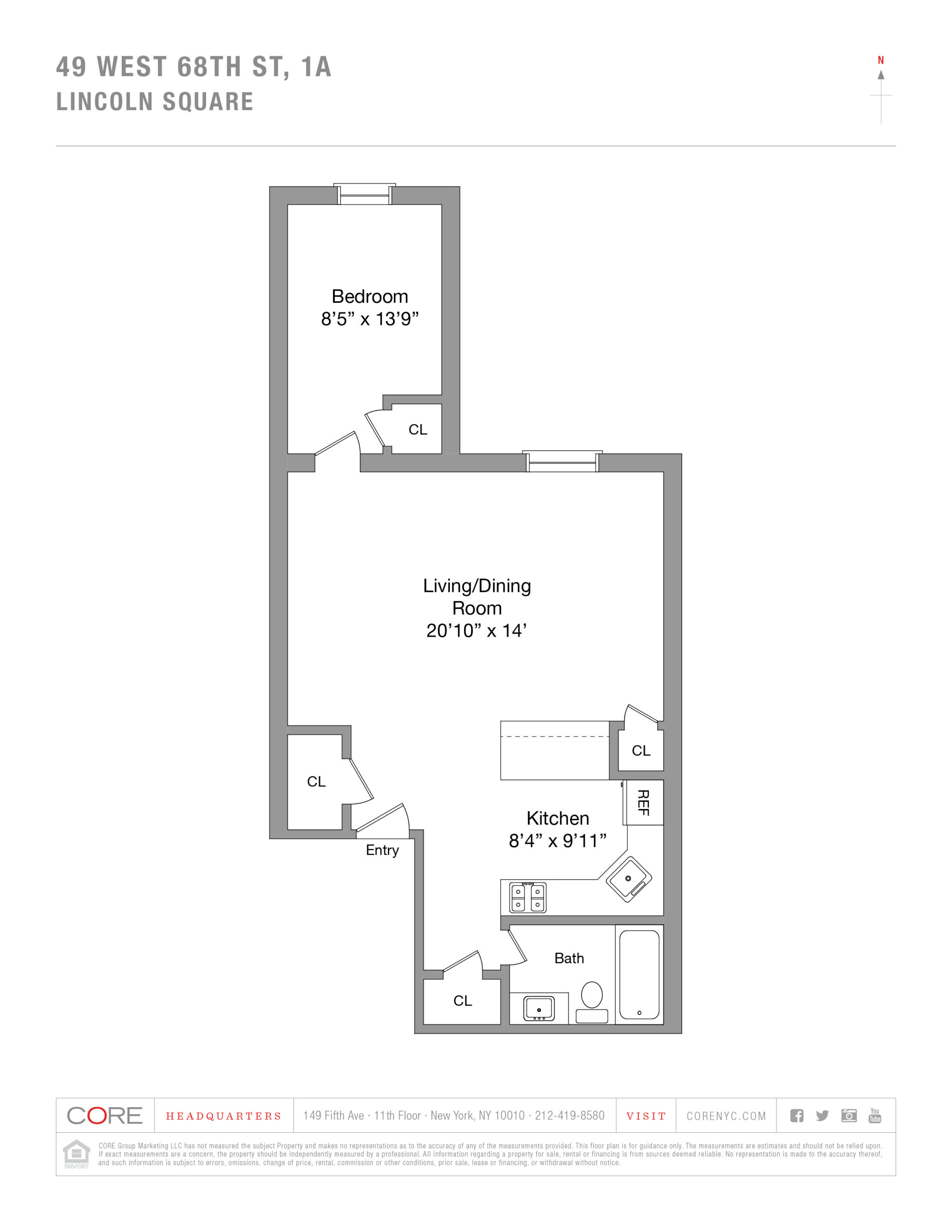49 West 68th St. 1-A, New York, NY 10023