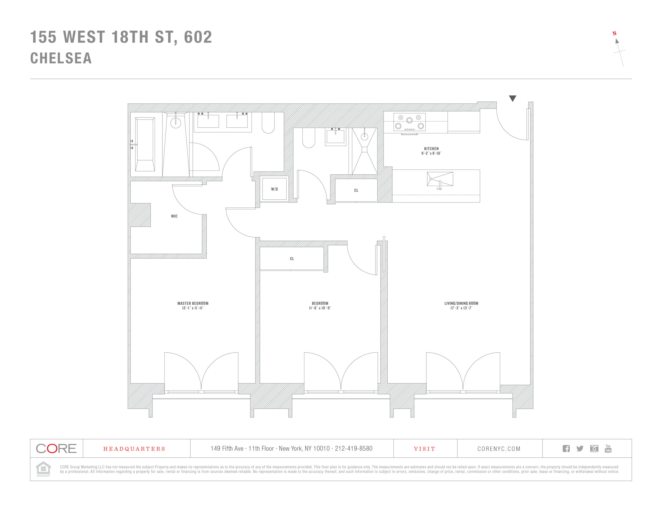 155 West 18th St. 602, New York, NY 10011