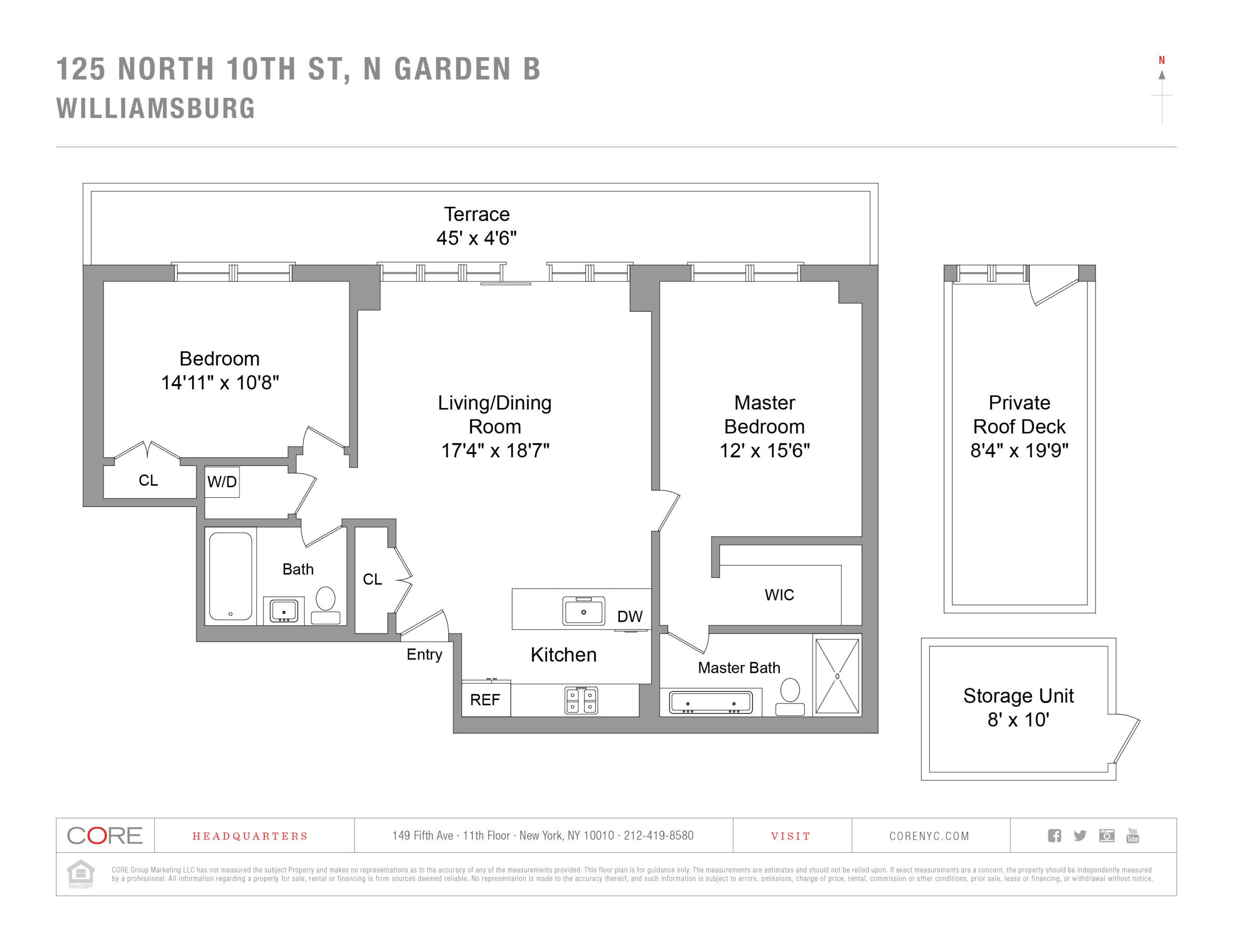 125 North 10th St. N GARDEN B, Brooklyn, NY 11249