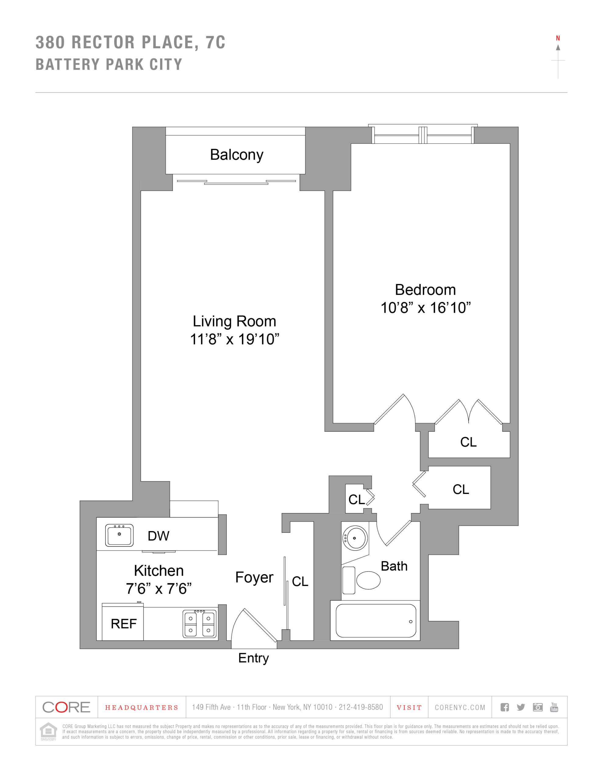 380 Rector Place 7C, New York, NY 10280