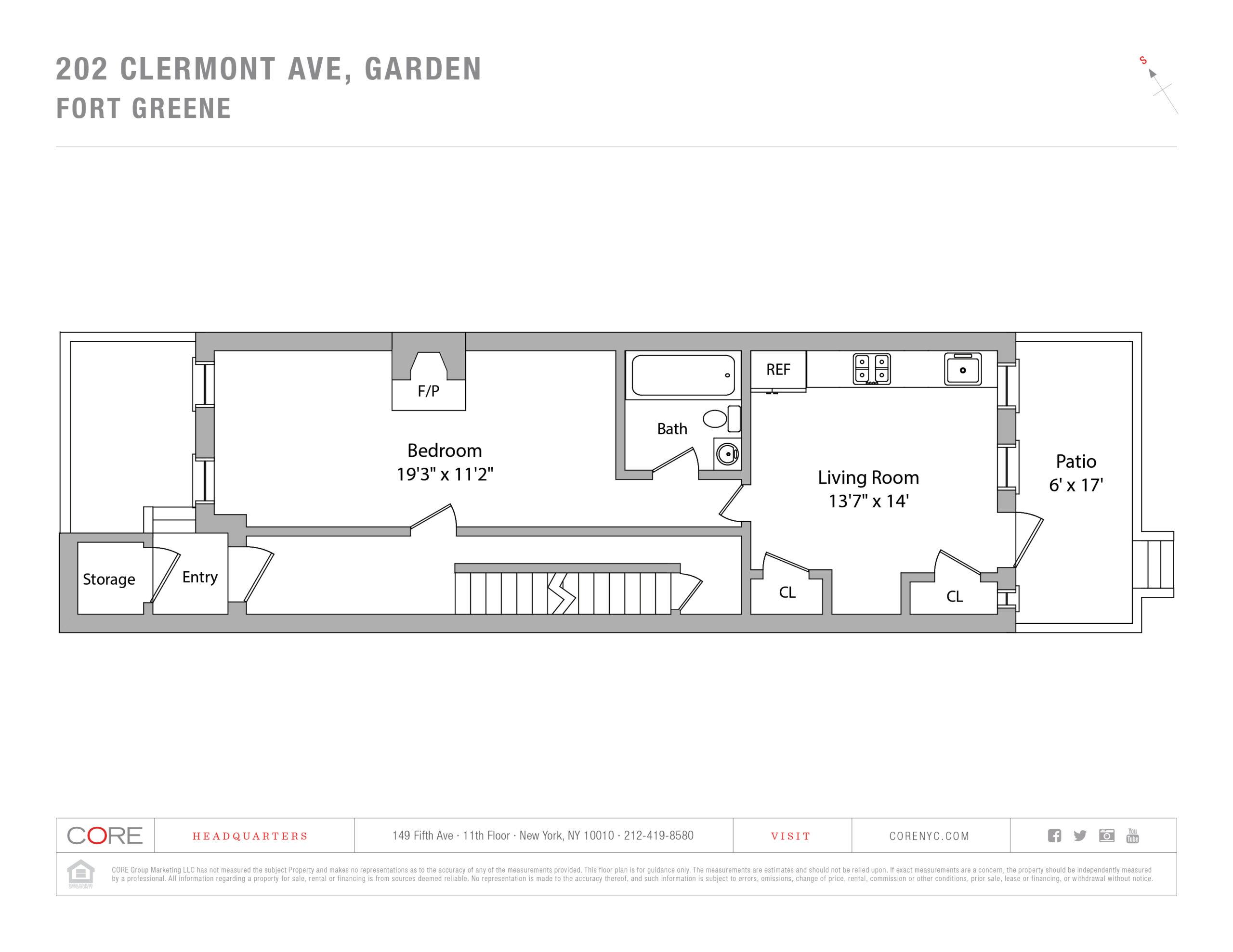 202 Clermont Ave. GARDEN, Brooklyn, NY 11205